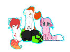 All Kittys by BubbleTeaCaT-Fleecy