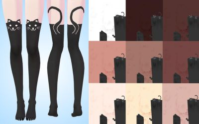 texture stockings (cat) for TDA MMD by NekaSan