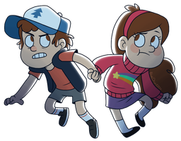 Mystery Twins by BlueOrca2000
