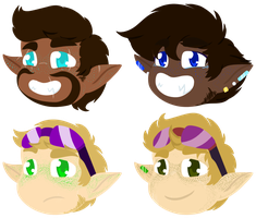 Cute Little Heads by Violet-The-Cat