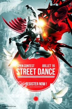 Street Dance Competition Poster With Gimp by Chrysippe