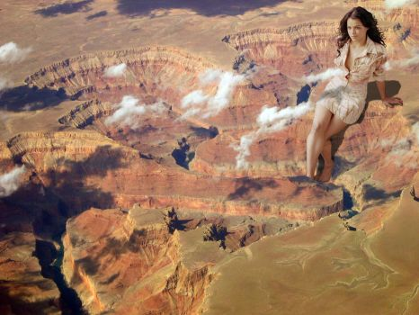 Michelle Rodrigez at the Grand Canyon by Accasbel