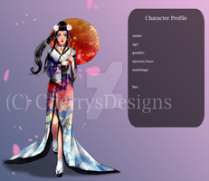 (closed) Auction Adopt - OC japanese beauty by CherrysDesigns