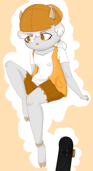 Susan (a goat) by Skygree