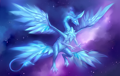 Crystal soul dragon by Static-ghost