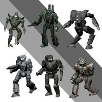 Blender battletech mechs 5 by pickledtezcat