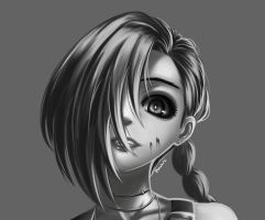 League of Legends - Grayscale Jinx by HecatiArtz