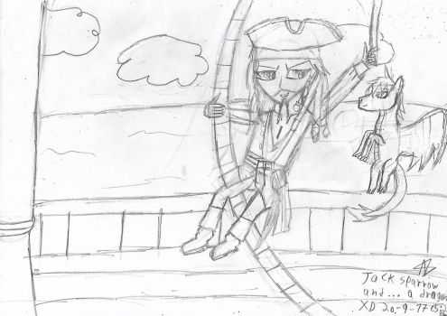 Jack Sparrow and... a dragon!? by Nefeloma21