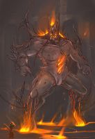 Ikol - Fire Colossus by Squamate