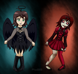 UT and UF Crystal-Dark angel and Zombie princess by Pichu-Chan05