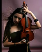 Girl With Violin 7 by b-e-c-k-y-stock