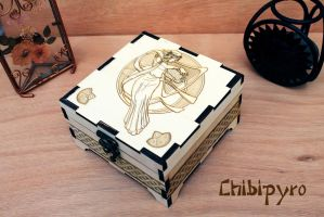 Wooden box Arp Lady by ChibiPyro