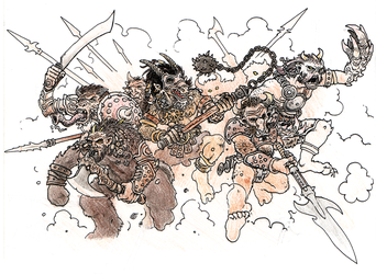 Charge of the Beastmen. by Arianod