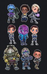 Mass Effect Andromeda - Chibi Set by ghostfire