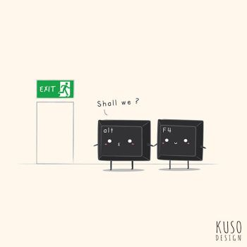 Exit by kusodesign