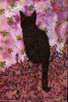 Lucky Black Cat   ATC 14 by Quaddles-Roost