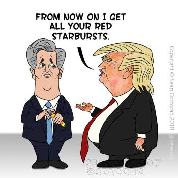 Cowardly-Kevin-Mccarthy-gives-trump-red-starbursts by seacorc