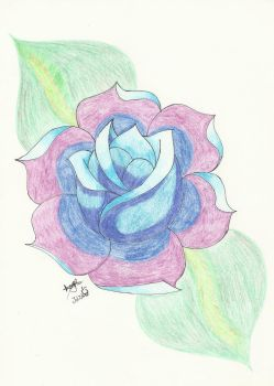 Blue Rose by MariiCreations93