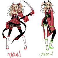 Akemi Konai Dark and Strong Append by RazuKat