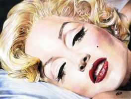 Lisa Marie Presley as Marilyn Monroe by cherrymidnight