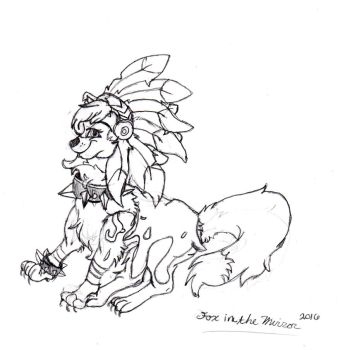 Rough sketch| Animal Jam Arctic wolf by Thefoxinthemirror