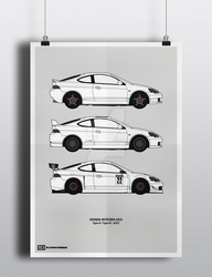 Honda Integra DC5 Poster by Axle9