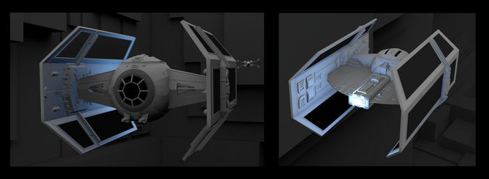 Vador TIE Fighter by ThomasLean