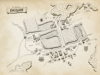 The town and farms of Riverwood by pend00