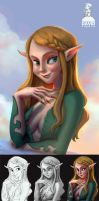 Ambient Occlusion Painting process by Ardinaryas