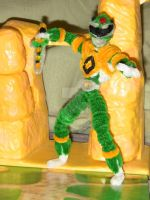 MIGHTY MORPHIN POWER RANGERS Green Ranger piece 1 by ActionFuzz