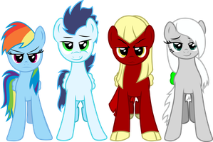 [Commission] Dash, Soarin, Sharp Shooter and Lenes by Thorinair