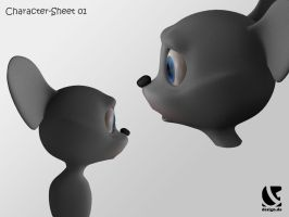 'milo the mouse' - WIP 1 by B3Ns