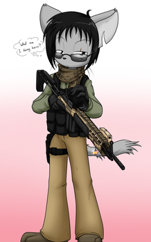 Cat with a Rifle by Sandwich-Anomaly