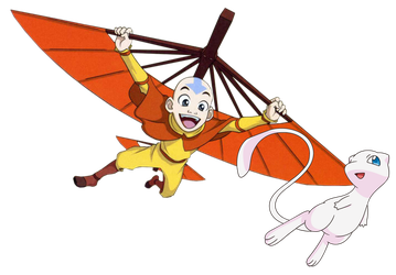 Aang  and Mew by DispoableButtons