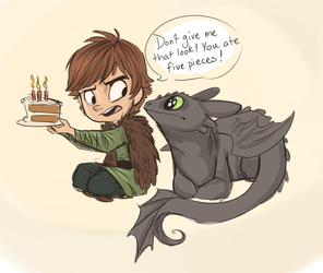Happy Birthday Hiccup by sharkie19
