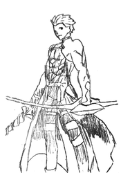 Picture 13 - Heroic Spirit Emiya - Trace by drawing-archive