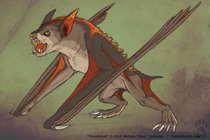 Monsterbat by CanineHybrid