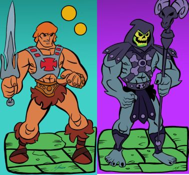 He-man vs Skeletor MAsters of the Universe by Granamir30