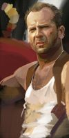 Bruce Willis 1 by Feael