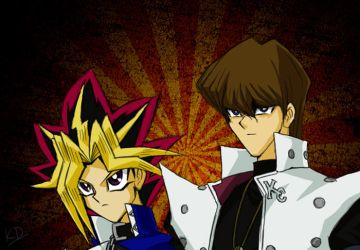 Kaiba and Yami Yugi by yamirabbit