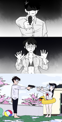 Miss Komi is Bad at Water fights by HellOnEarth-III