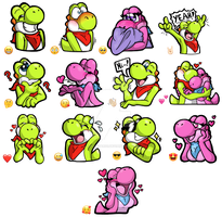 Limey and Pinky - Telegram Sticker Set