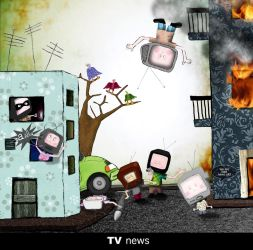 TV news are always bad news by Y4why