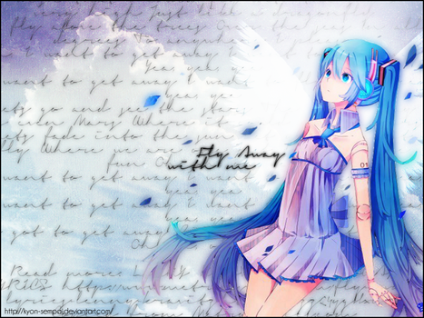 Miku Fly Away Wallpaper by Kyon-sempai