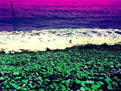 Digital Pebble Beach by MarmaladeSunshine