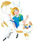 Fionna and Cake Time! by CubedCake