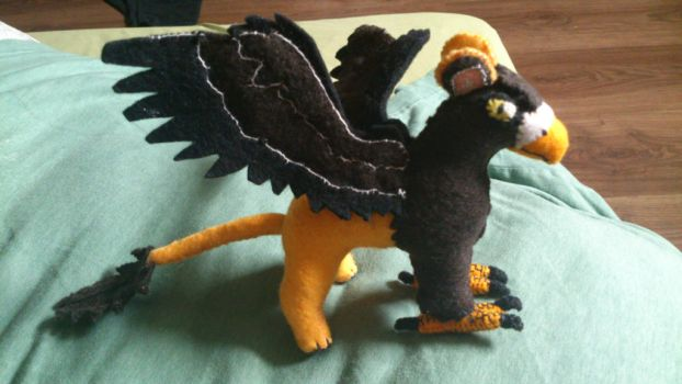 Scowly the griffin plush by NerdLass
