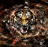 Abstract Tiger 2 by LuhaBiha