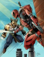 Deadpool VS Wolverine by BIG-D-ARTiZ