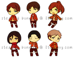 STICKERS: Shingeki No Kyojin by Steamed-Bun